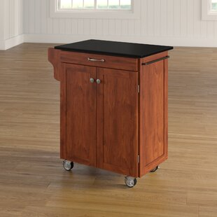 Campas Granite Top Kitchen Cart by Charlton Home