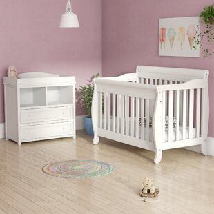 Best Jaden 4-in-1 Convertible 2 Piece Crib Set By Viv + Rae