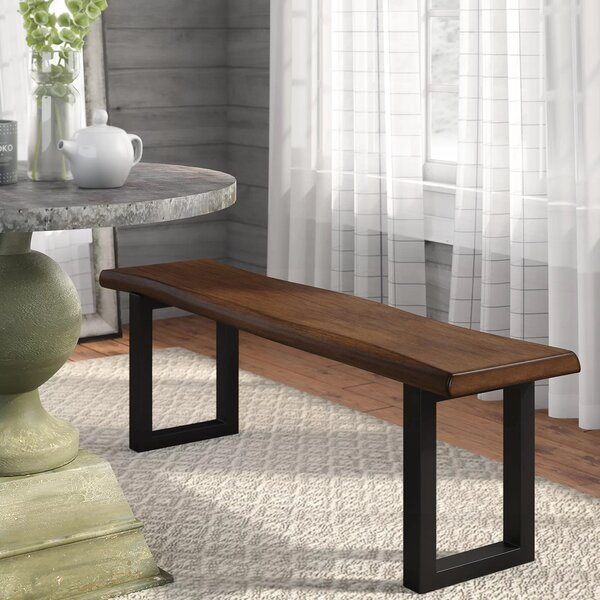 Gracie Oaks Shamane Wood/Metal Bench & Reviews by Gracie Oaks