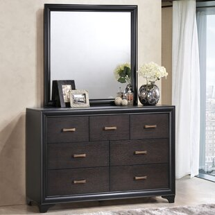 Modway Maiden 7 Drawers Dresser with Mirror