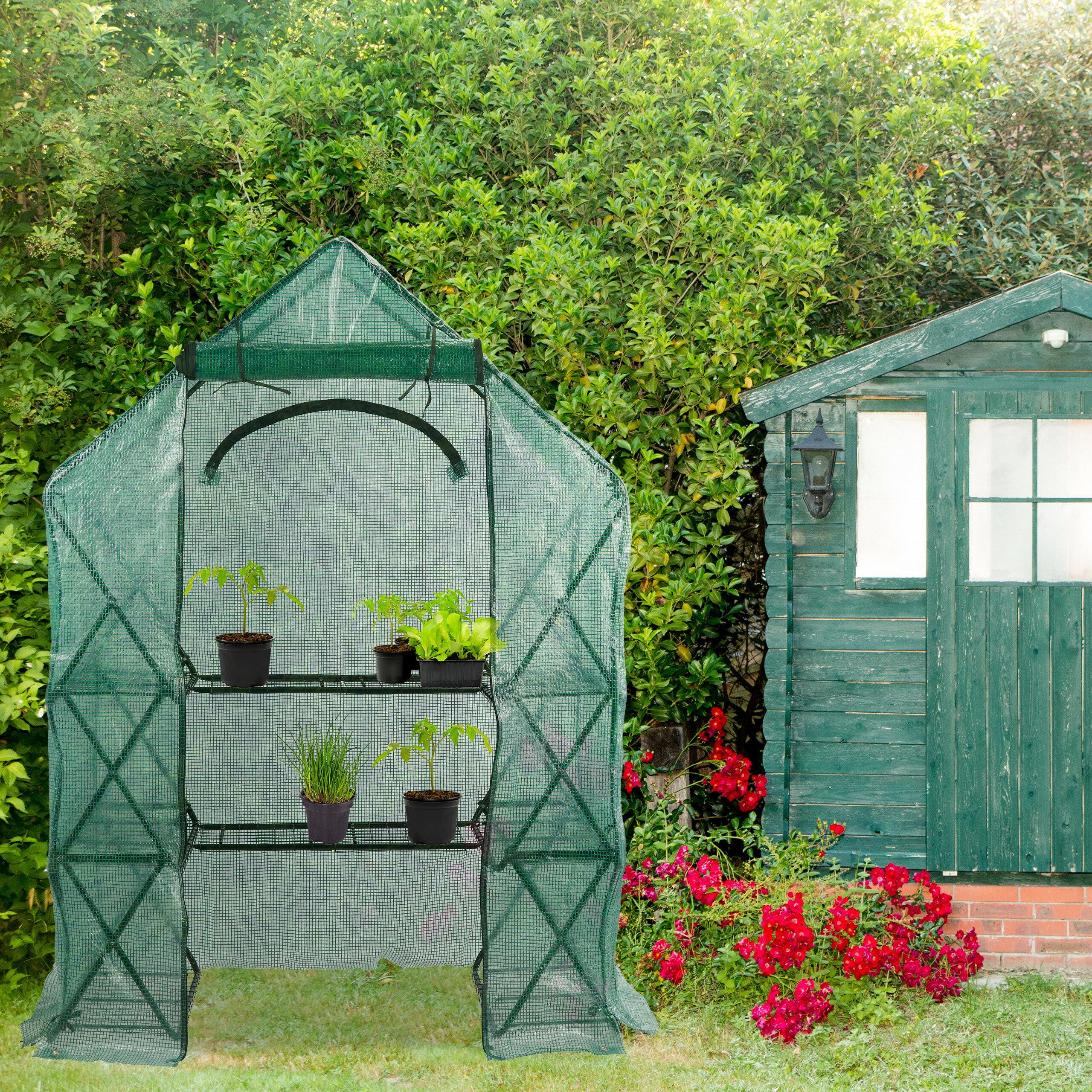 Mini Gewächshaus Rahmen Abdeckung PVC Abdeckung Startseite Terrasse Garten
