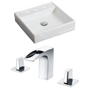 Affordable Price Ceramic Square Vessel Bathroom Sink with Faucet ByAmerican Imaginations