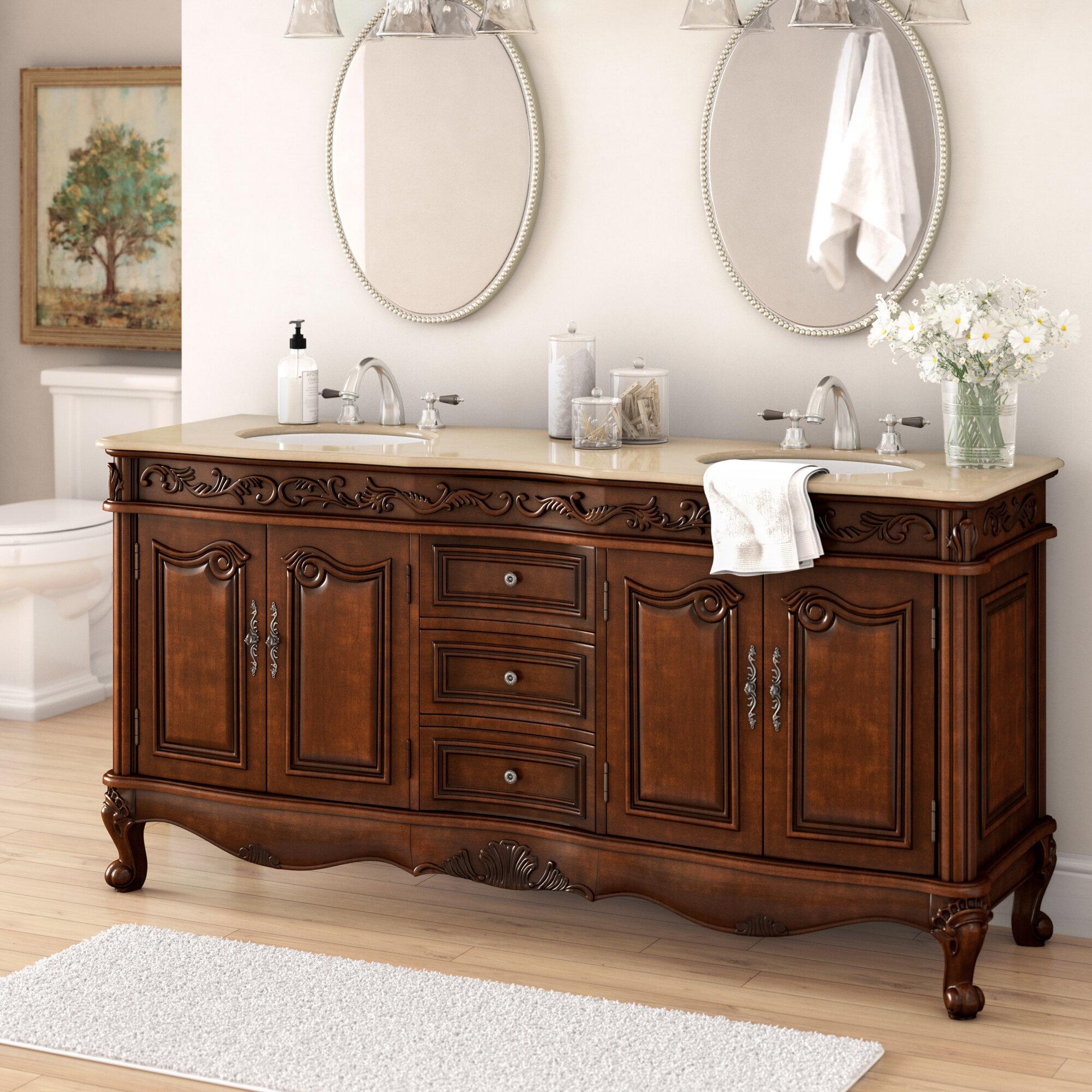 Astoria Grand Pillsbury 72 Double Bathroom Vanity Set Reviews Wayfair