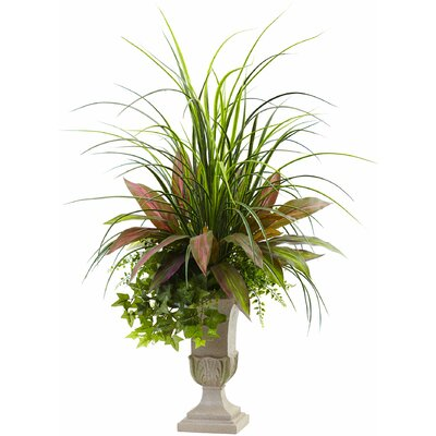 Mixed Grass, Dracaena, Sage Ivy and Fern Floor Plant in Planter Astoria Grand
