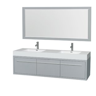 Axa 72 Double Bathroom Vanity Set with Mirror by Wyndham Collection