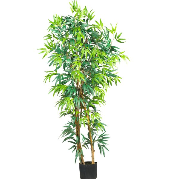 nearly natural curved bamboo tree in pot reviews wayfair