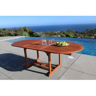 Vista Extension Butterfly Dining Table by Vifah Great price