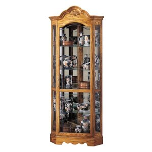 Wilshire Lighted Corner Curio Cabinet by Howard Miller®