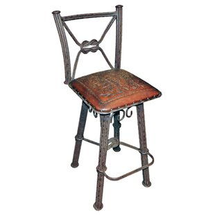 Chaucer Traditional 30 Bar Stool (Set of 2) Fleur De Lis Living