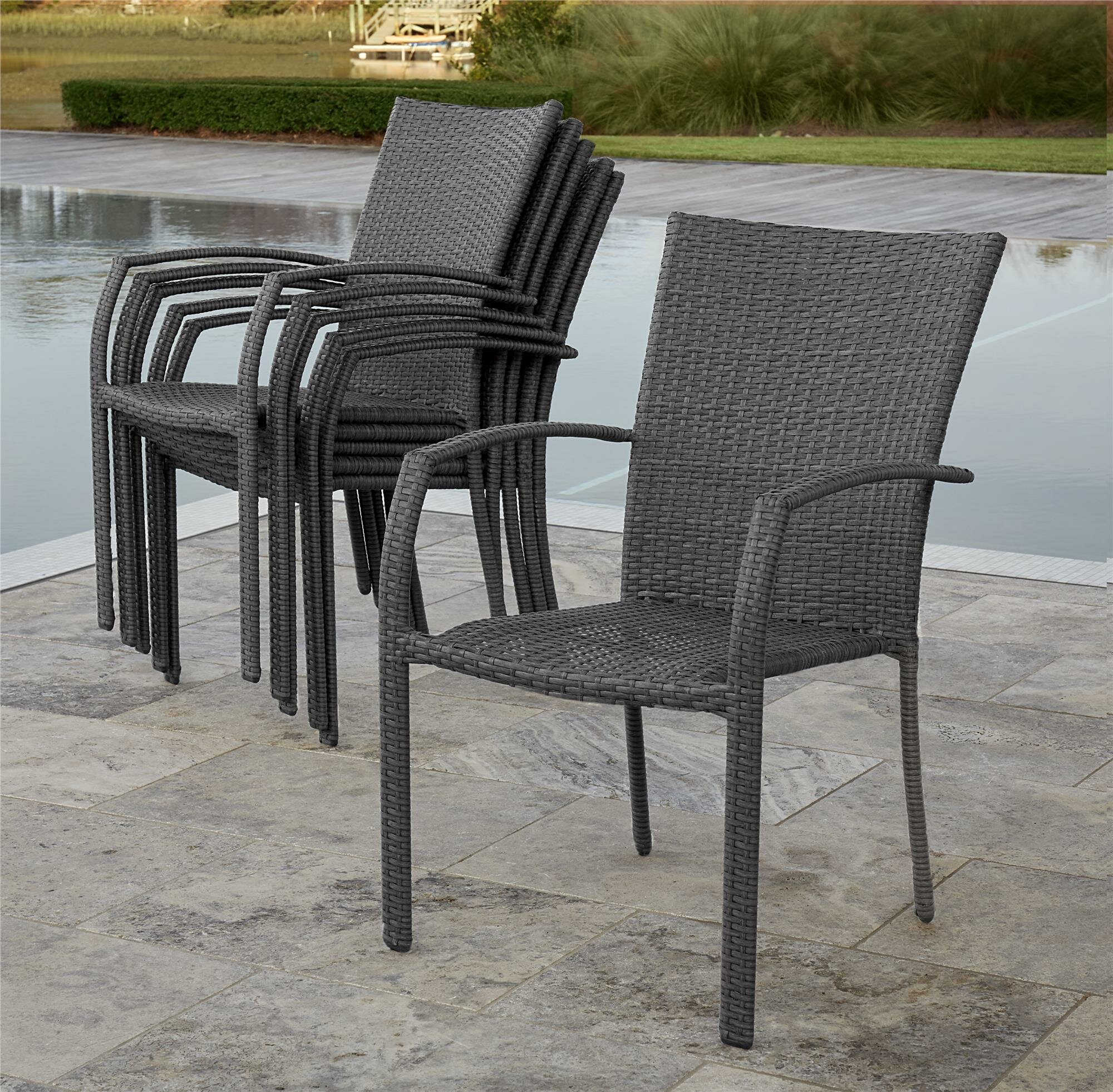 Patio Outdoor Dining Chairs You Ll Love In 2021 Wayfair