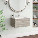 Caitlynn 30 Wall Mounted Single Bathroom Vanity Set by AllModern