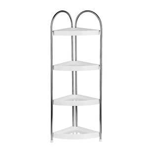 4 Tier Corner Bathroom Shelf Unit