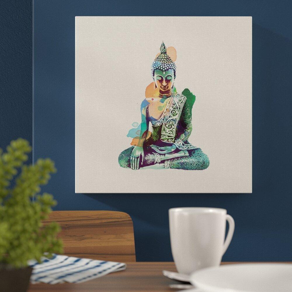 Jade buddha canvas wall art