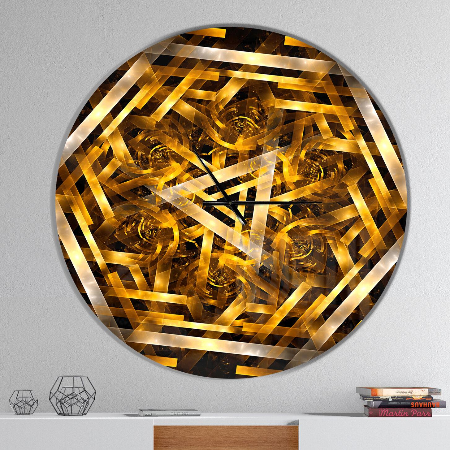 East Urban Home Fractal 3d Hexagon Wall Clock Wayfair
