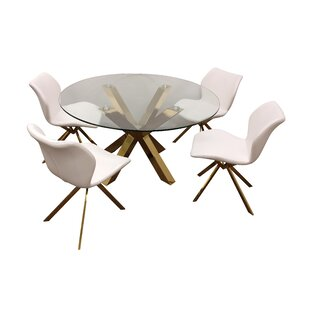 Leedom 5 Piece Dining Set by Everly Quinn Today Only Sale