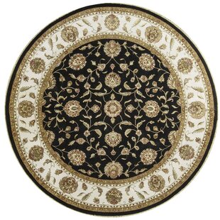 Compare & Buy One-of-a-Kind Dharma Handwoven Round 9'11 Wool/Silk Beige/Black Area Rug ByBokara Rug Co., Inc.