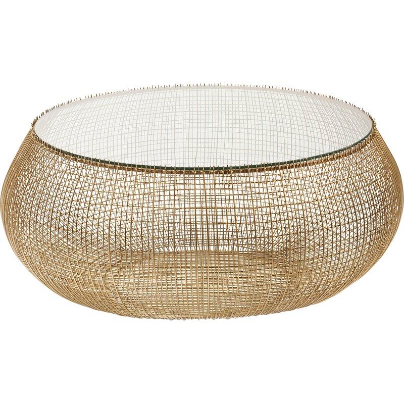 c0bd6668553e3 KARE Design Cesta Gold Coffee Table | Wayfair.co.uk