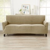 Knitted Stretch Box Cushion Sofa Slipcover by Ebern Designs