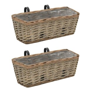 Cadwallader Rattan Wall Planter Set (Set Of 2) By Brambly Cottage