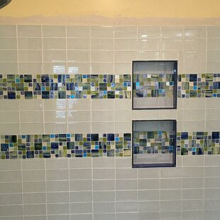 Signature Line Seaside Glass Mosaic Tile in Blue/Green