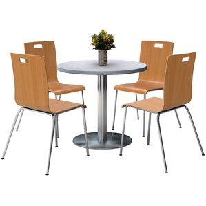 Lovely Round Cafeteria Table And Chair Set