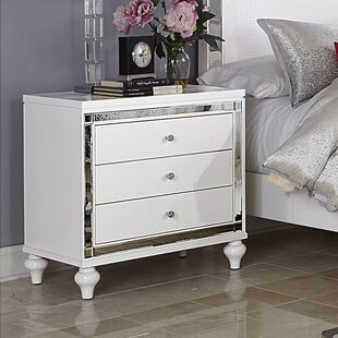 Rivage 3 Drawer Nightstand by Willa Arlo Interiors