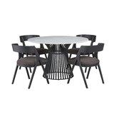 Dungannon 5 Piece Dining Set by Brayden Studio®