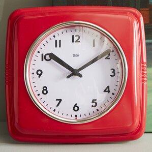 square retro wall clock