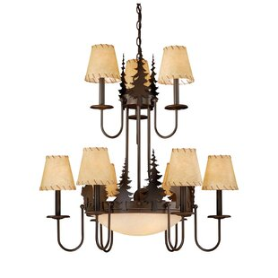 Loon Peak Jensen 9-Light Shaded Chandelier