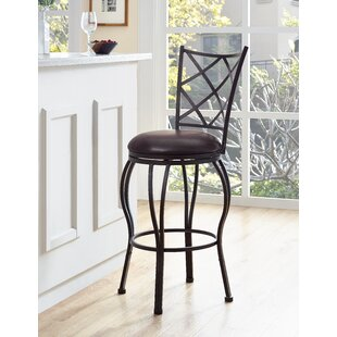 Soperton Diamond Lattice Adjustable Height Bar Stool Fleur De Lis Living