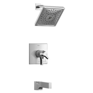 Delta Zura Pressure Balance 17 Series Tub and Shower Trim with Double Handle and Monitor