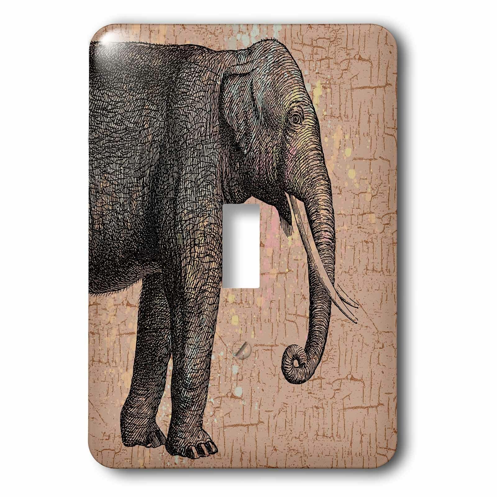 3drose Elephant 1 Gang Toggle Light Switch Wall Plate Wayfair