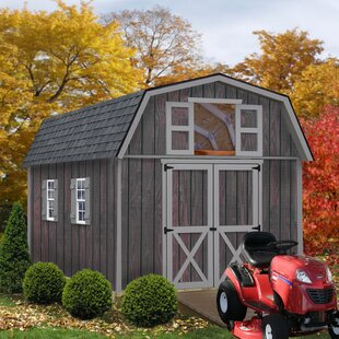 Woodville 10 Ft. W Solid Wood Storage Shed By Best Barns