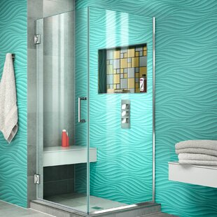 Unidoor Plus 30.38 x 72 Hinged Frameless Shower Door with Clear Max Technology by DreamLine