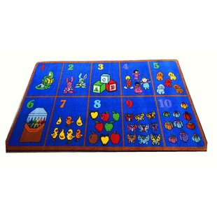Reviews Count on Me Power Loomed Blue Area Rug By Kids World Carpets