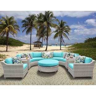 Rosecliff Heights Ansonia 8 Piece Sectional Set with Cushions
