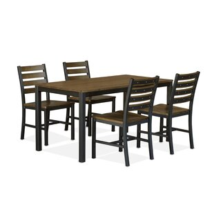 Loft 5 Piece Solid Wood Dining Set