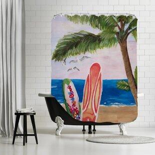East Urban Home Surfboards Beach Shower Curtain