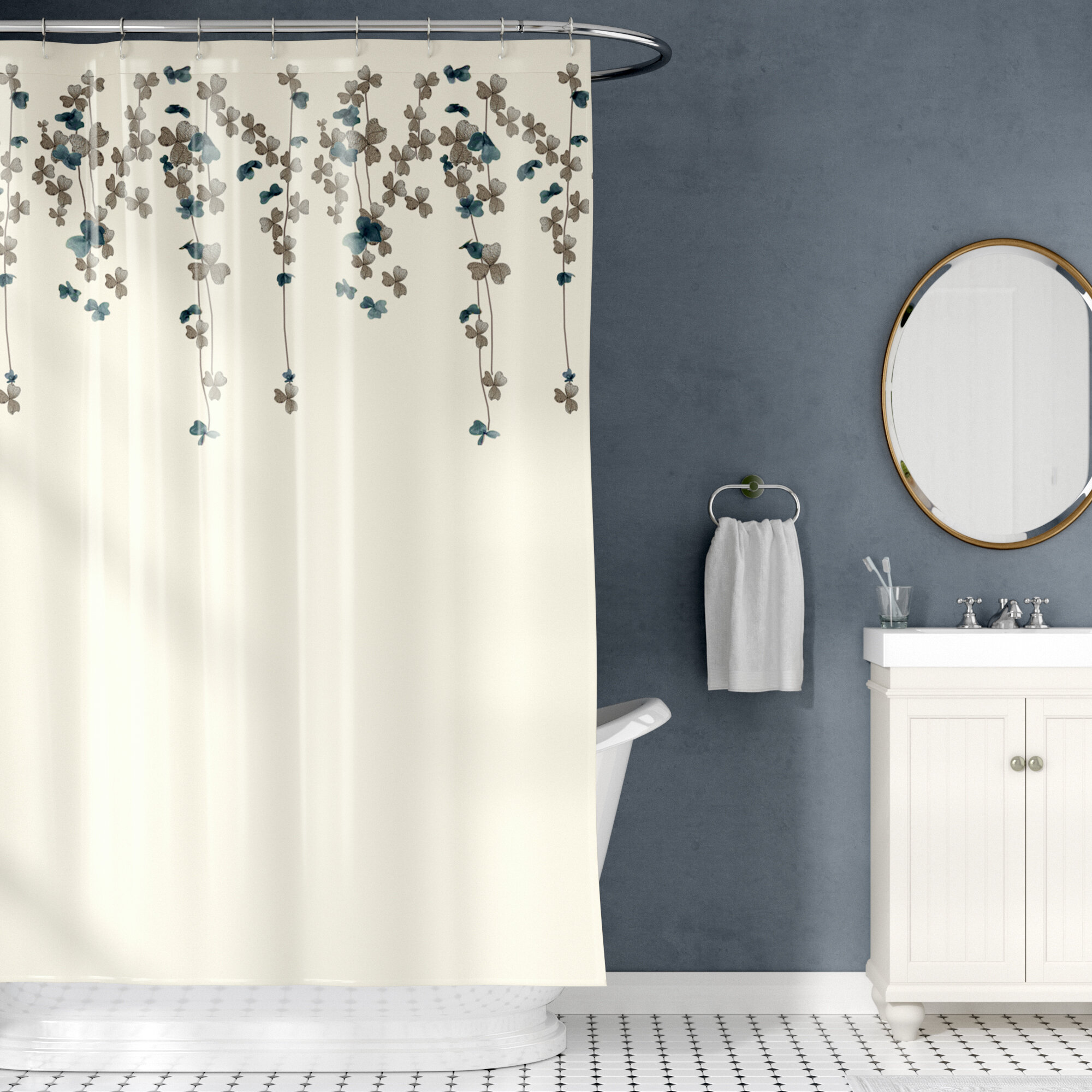 Riehl Embroidered Shower Curtain Reviews