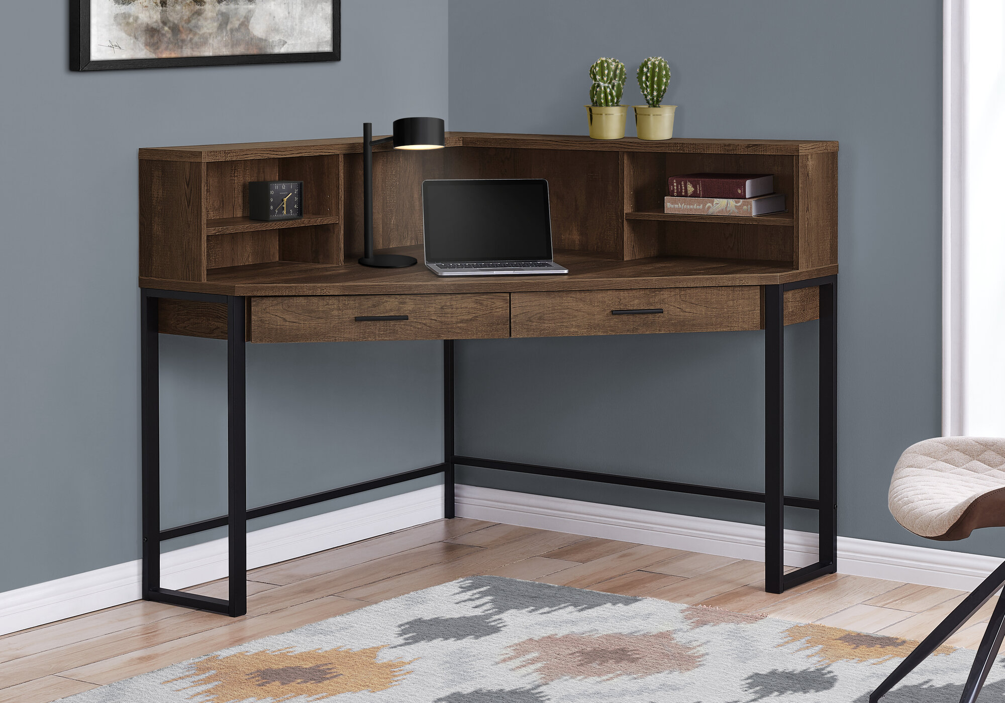 gracie oaks funderburg corner desk with hutch w piid=