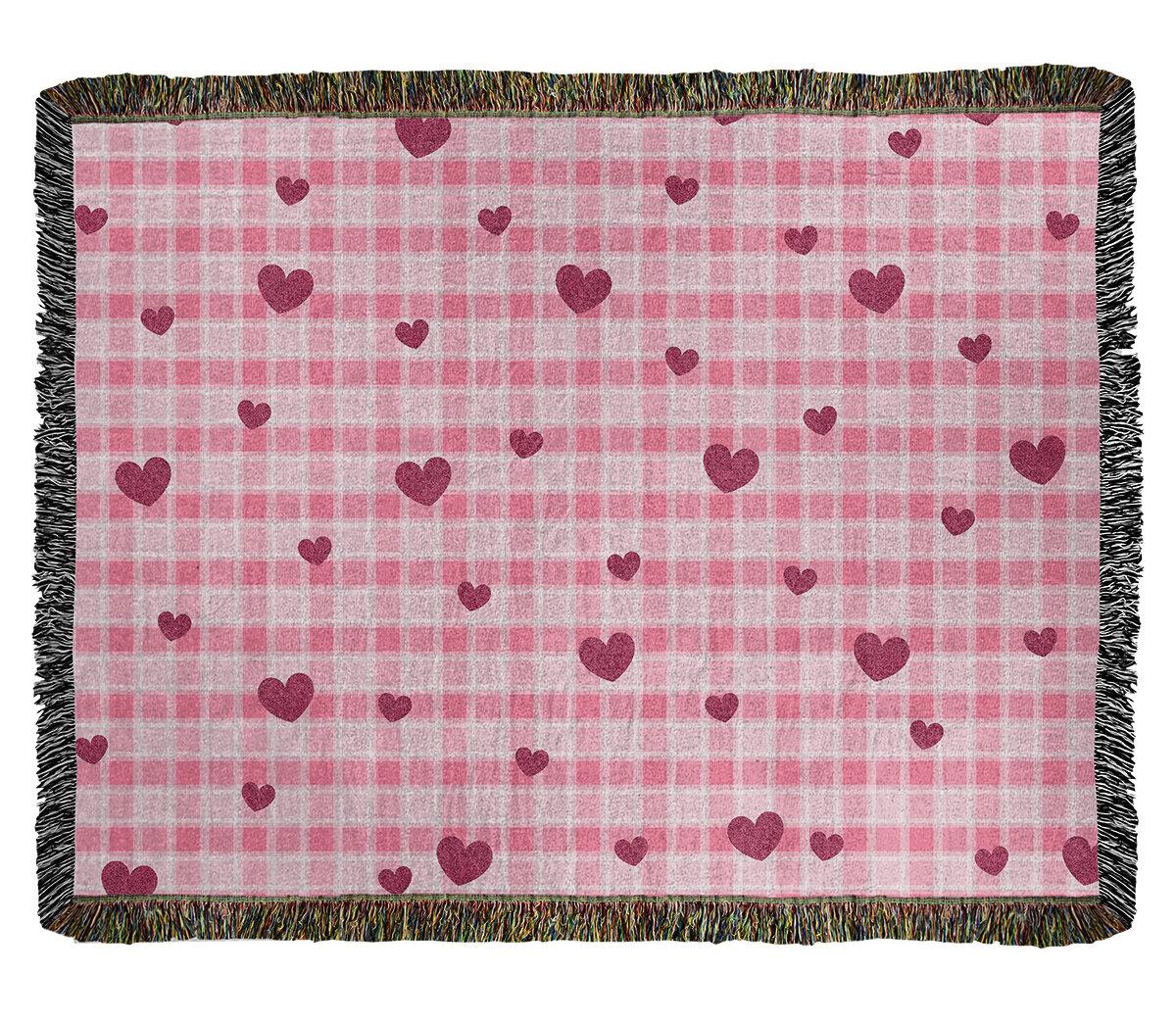 East Urban Home Festive Valentine Day Cotton Throw Wayfair