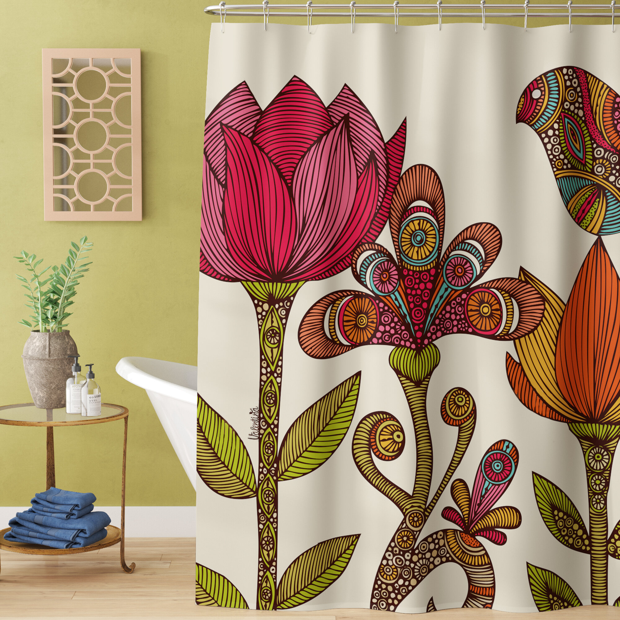 Bright Shower Curtains You Ll Love In 2021 Wayfair