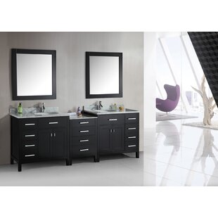 Middletown 92 Double Bathroom Vanity Set with Mirrors by Andover Mills