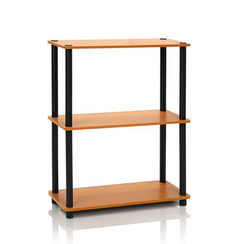 75 cm Bücherregal | Wohnzimmer | Helles kirschenholz/schwarz | Spanplatte | Wildon Home