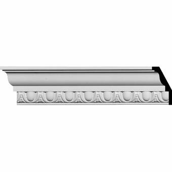 Ekena Millwork Colton Acanthus 3 1 4 H X 96 1 8 W X 3 1 2 D Crown Moulding Wayfair