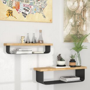 Cosima 2 Piece Floating Shelf Set