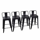 Glenn 26 Metal Bar Stools (Set of 4) by 17 Stories
