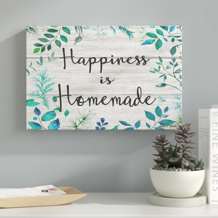 photo relating to Happiness is Homemade identify Pleasure is Do-it-yourself Textual Artwork upon Canvas