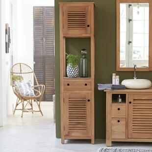 Coline 47 X 190cm Free Standing Tall Bathroom Cabinet By Tikamoon