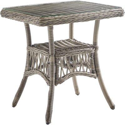 Ryann Glass Side Table by Mistana Discount